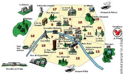 Untourparparis le blog multim dia 100 facile et for Paris carte touristique